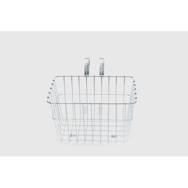 WALD - Front Grocery Basket #135 - Silver plated (14.5 x 9.5 x 9 inches)